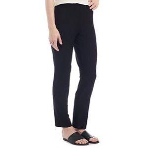 Eileen Fisher Slim Ankle Pants In Black S